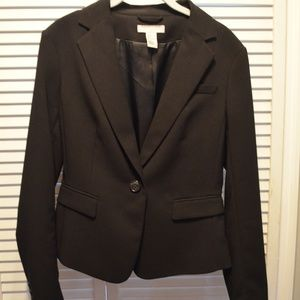 H&M Black One Button Blazer